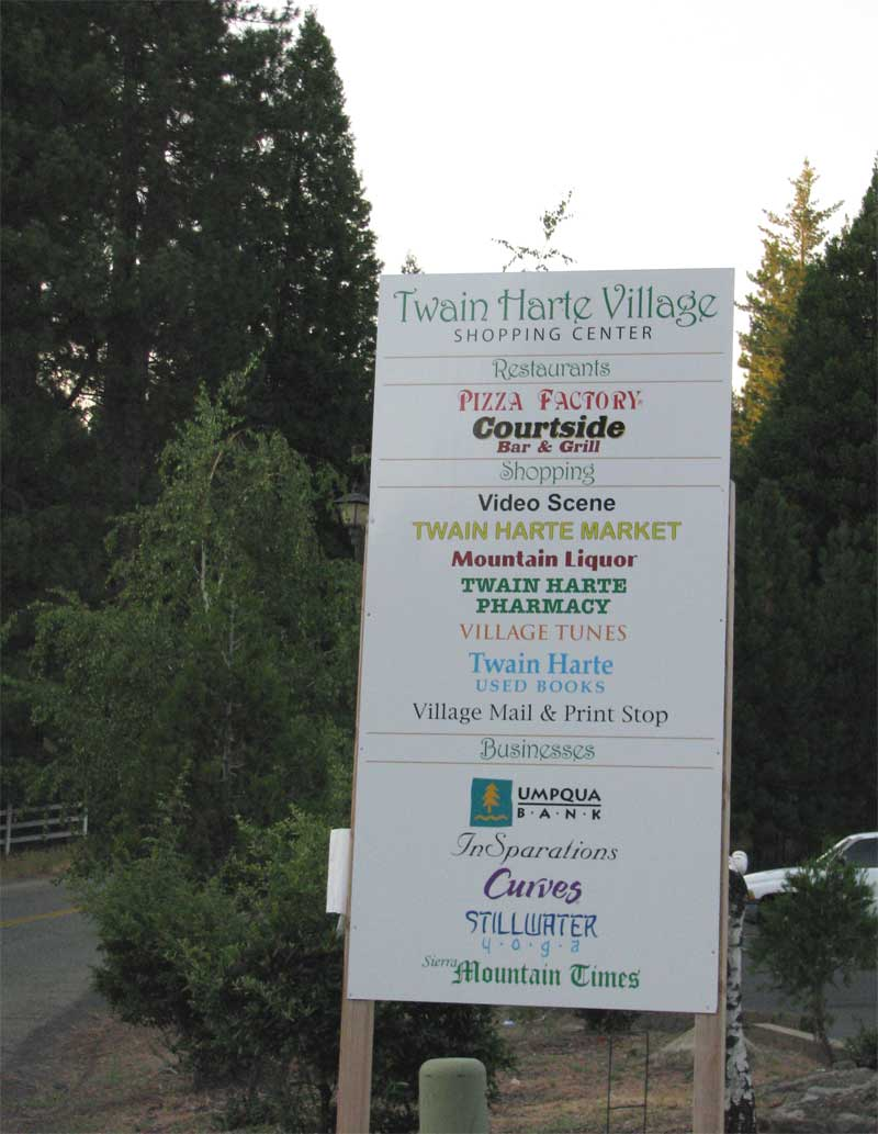 Twain Harte Village Sign
