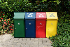 Trash Recycling with Disposal Containers
